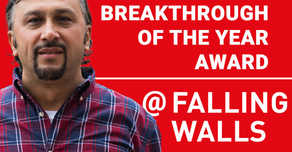 Thumb ticker md metin sitti receives the  breakthrough of the year  award at fallings walls conference 2